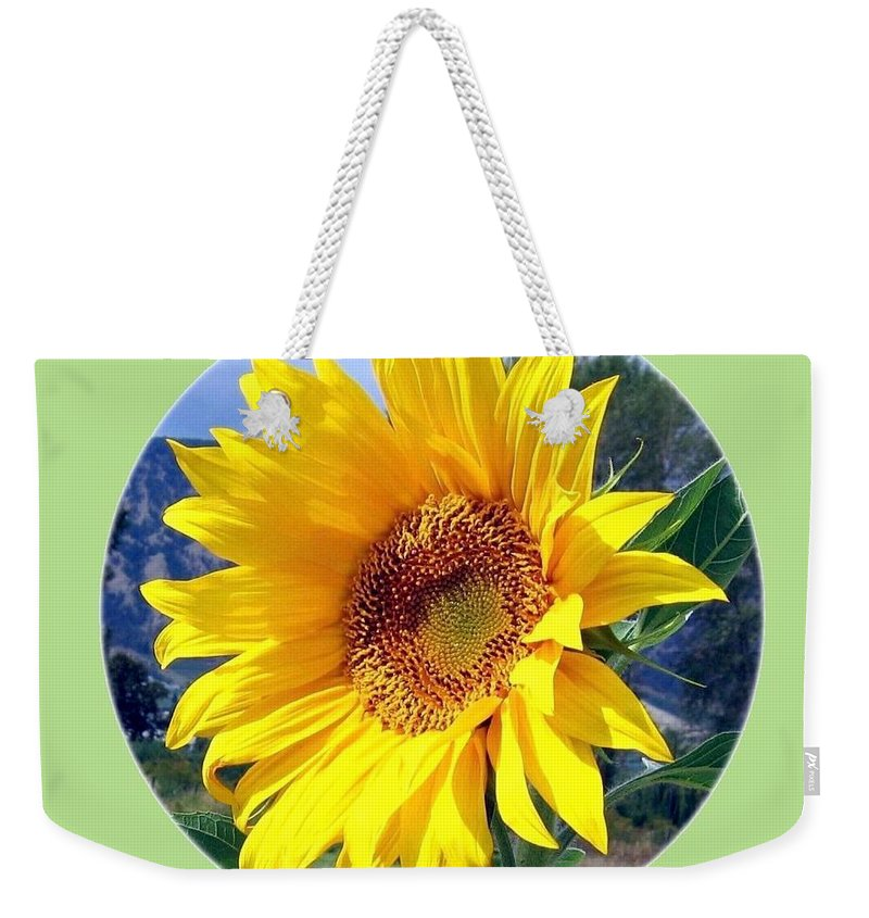 Sunflower Weekender Tote Bag featuring the photograph Solid Sunshine by Will Borden
