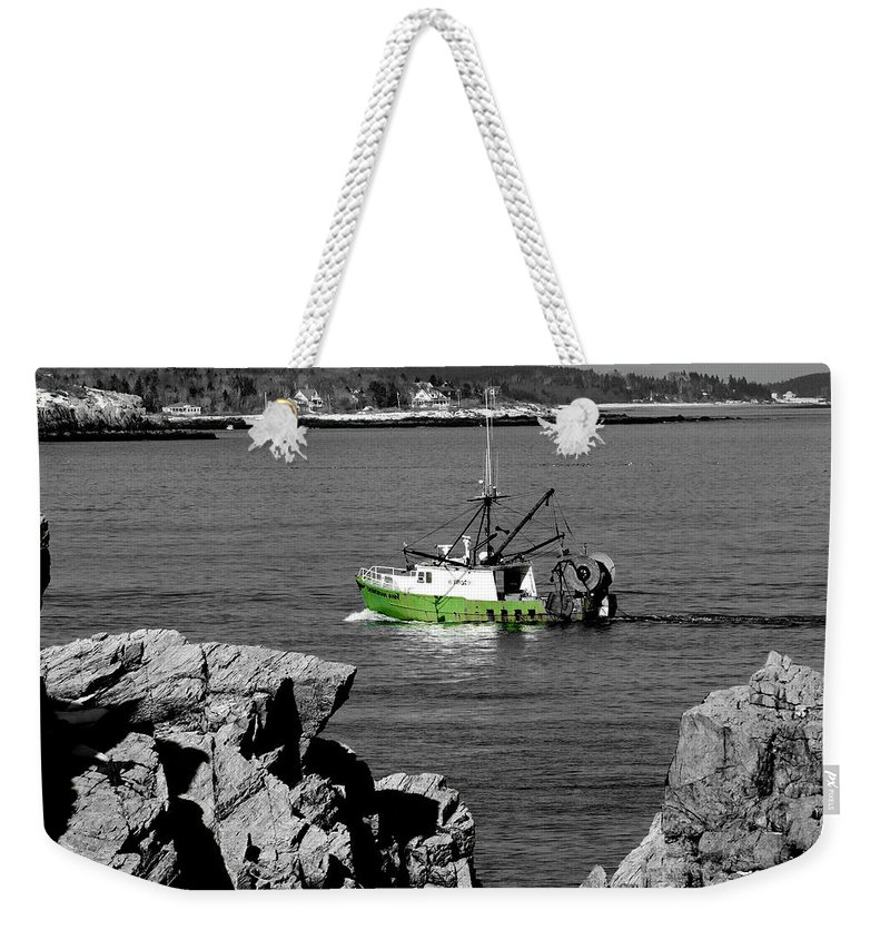 Coast Weekender Tote Bag featuring the photograph Solitude by Greg Fortier
