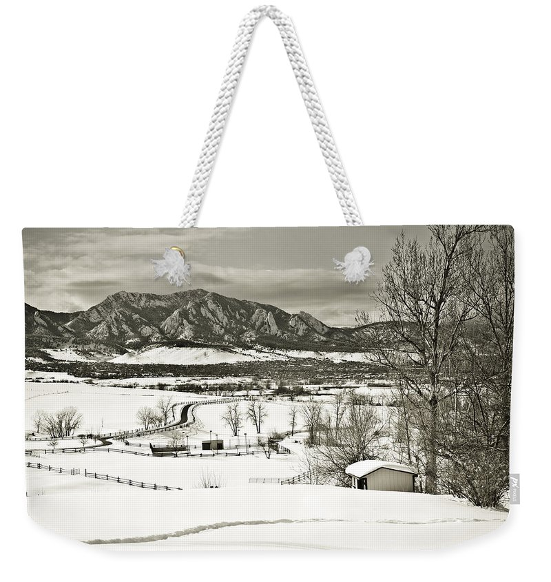 Boulder Weekender Tote Bag featuring the photograph Solitude in Boulder County by Marilyn Hunt