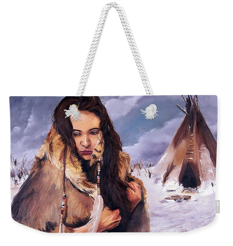 Southwest Art Weekender Tote Bag featuring the painting Solitude by J W Baker