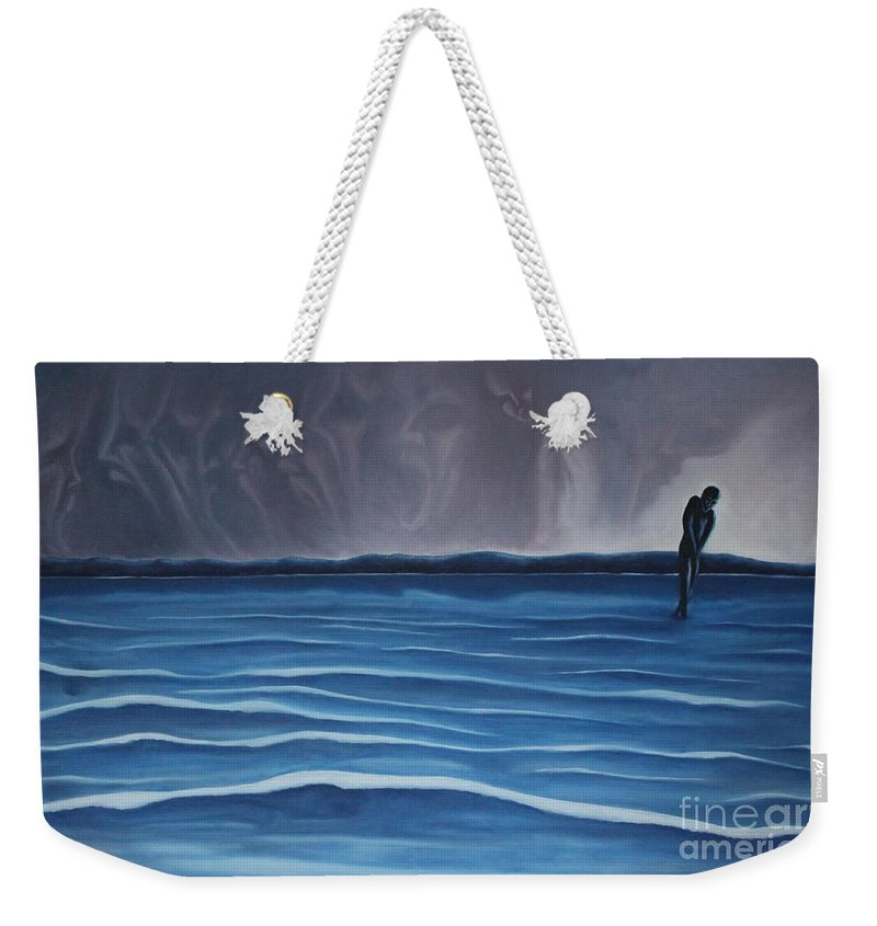 Tmad Weekender Tote Bag featuring the painting Solitude by Michael TMAD Finney