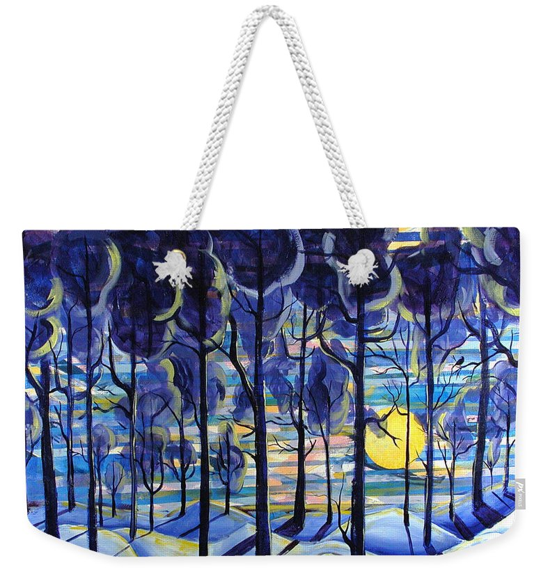 Landscape Weekender Tote Bag featuring the painting Solitude by Rollin Kocsis