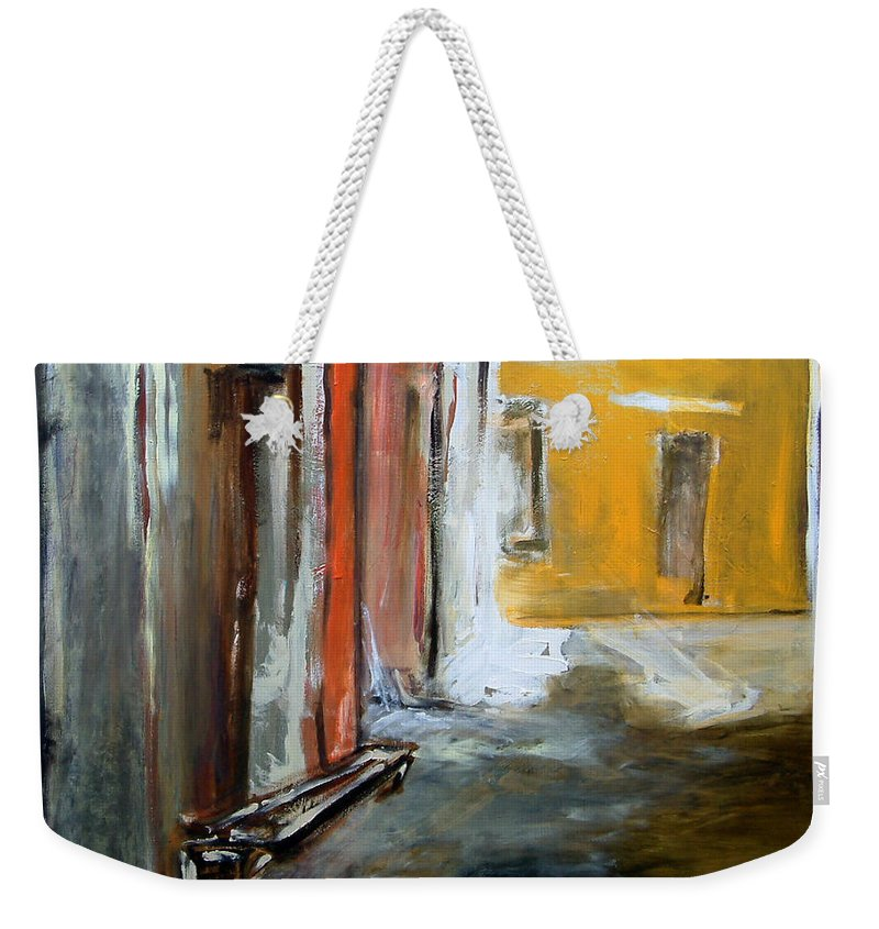 Easter Weekender Tote Bag featuring the painting Solitude by Rome Matikonyte