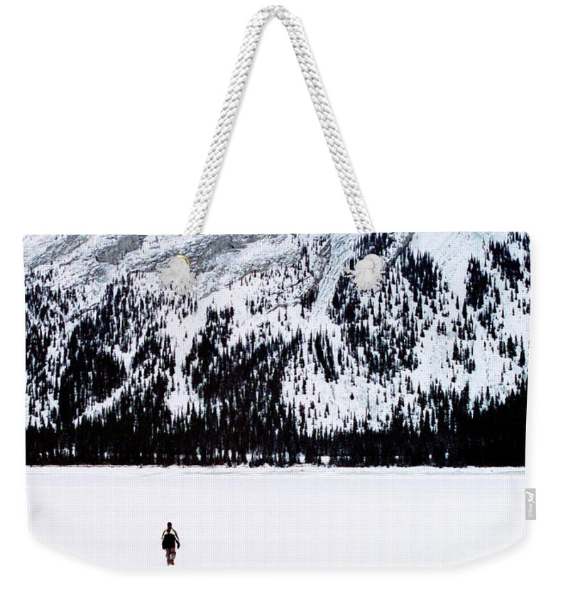 Snow Weekender Tote Bag featuring the photograph Solitude by Tim Dussault
