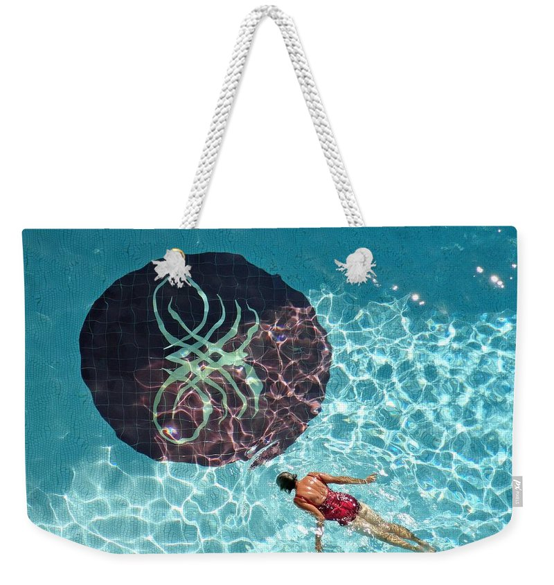 Solo Weekender Tote Bag featuring the photograph Solo Float by Robert Meyers-Lussier