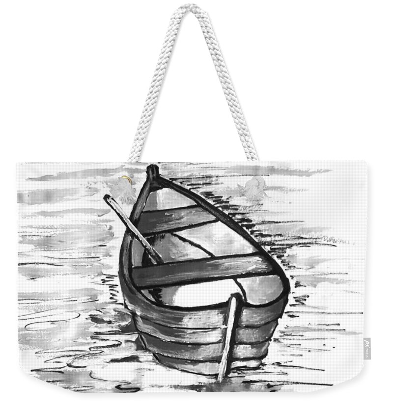 Solo Weekender Tote Bag featuring the painting Solo by Nermine Hanna