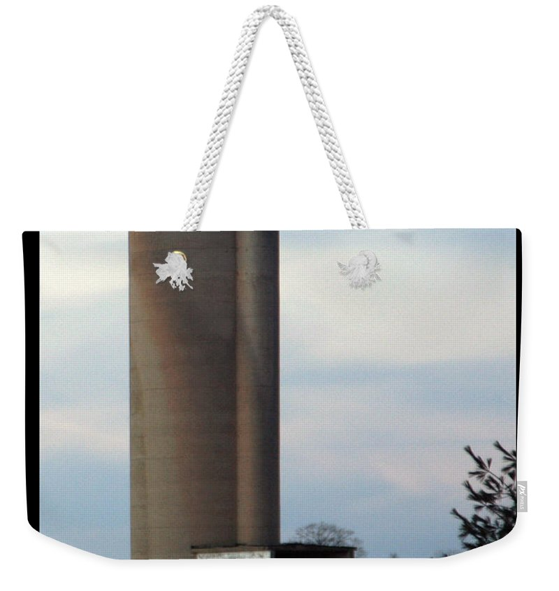Silo Weekender Tote Bag featuring the photograph Solo Silo by Tim Nyberg