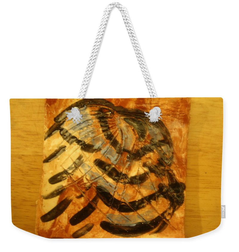 Jesus Weekender Tote Bag featuring the ceramic art Solomon - Tile by Gloria Ssali