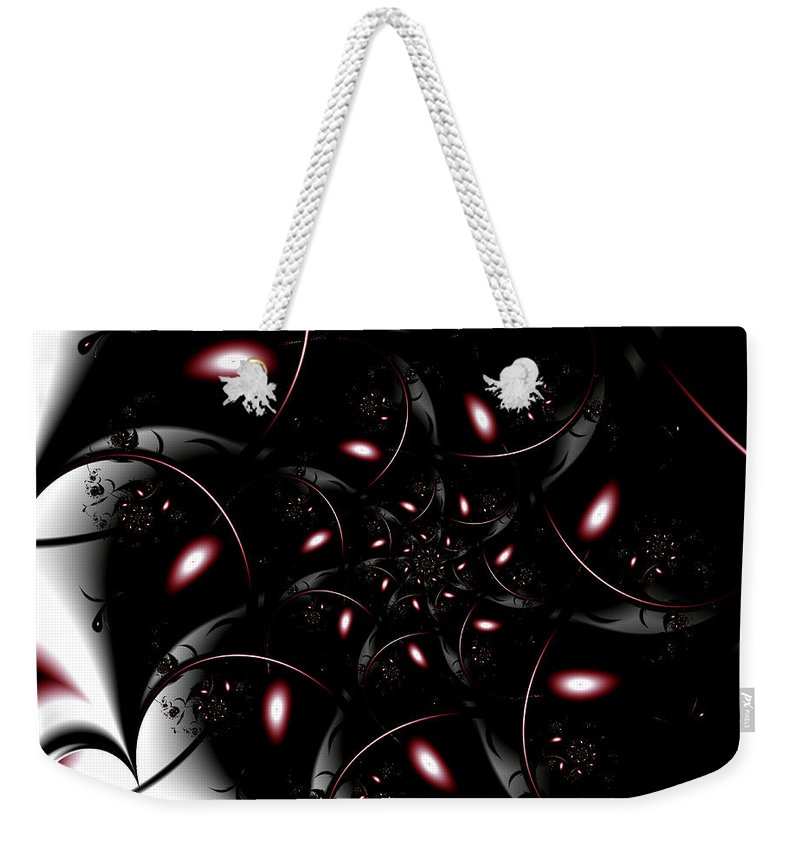 Art Weekender Tote Bag featuring the digital art Somber by Candice Danielle Hughes