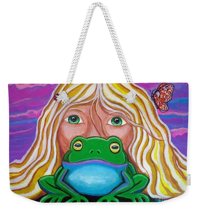 Frog Weekender Tote Bag featuring the painting Somebody's Prince by Nick Gustafson