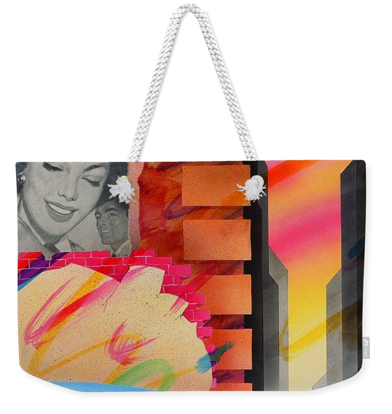 Collage Weekender Tote Bag featuring the painting Someone You Love by Charles Stuart