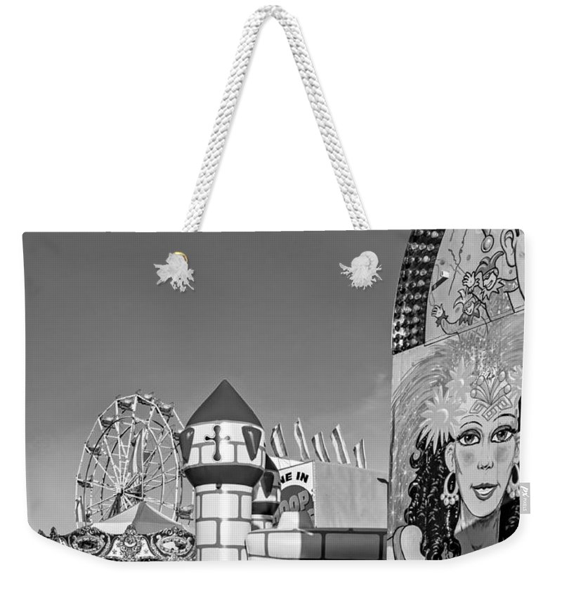 Bolton Weekender Tote Bag featuring the photograph Something For Everyone - Bw by Steve Harrington