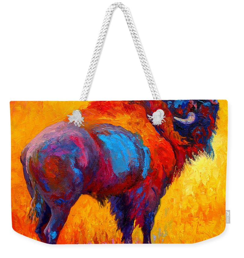 Wildlife Weekender Tote Bag featuring the painting Something In The Air by Marion Rose