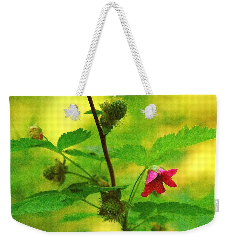 Flower Weekender Tote Bag featuring the photograph Something Red by Mark Lemon