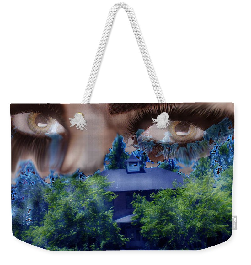 Strange House Weekender Tote Bag featuring the digital art Something To Watch Over Me by Seth Weaver
