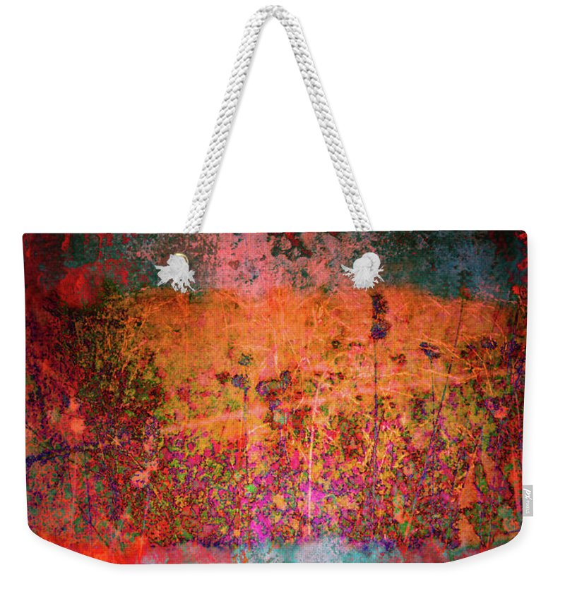 Texture Weekender Tote Bag featuring the digital art Sometime In The Beginning by Tara Turner