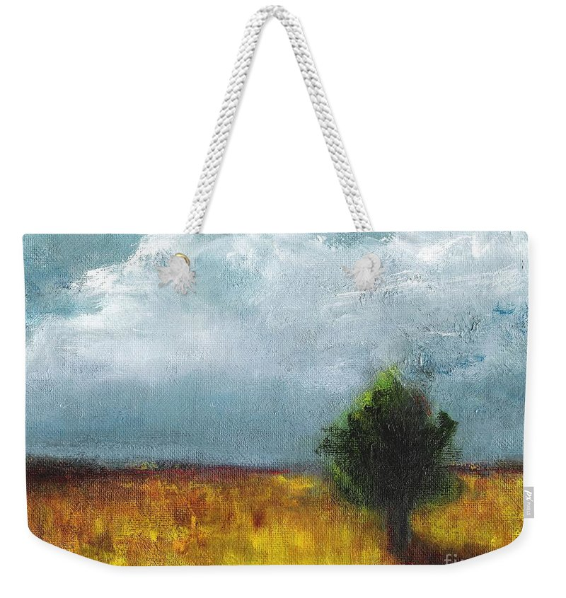 Landscapes Weekender Tote Bag featuring the painting Sometimes The Light Is Just Right by Frances Marino