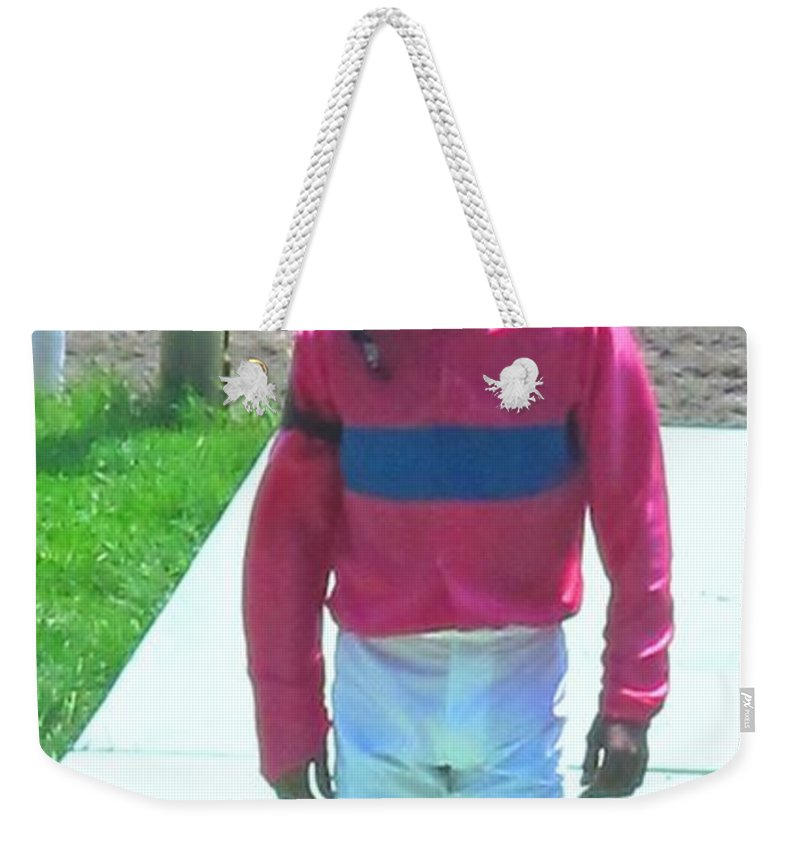 Weekender Tote Bag featuring the photograph Sometimes You Come Last by Ian MacDonald