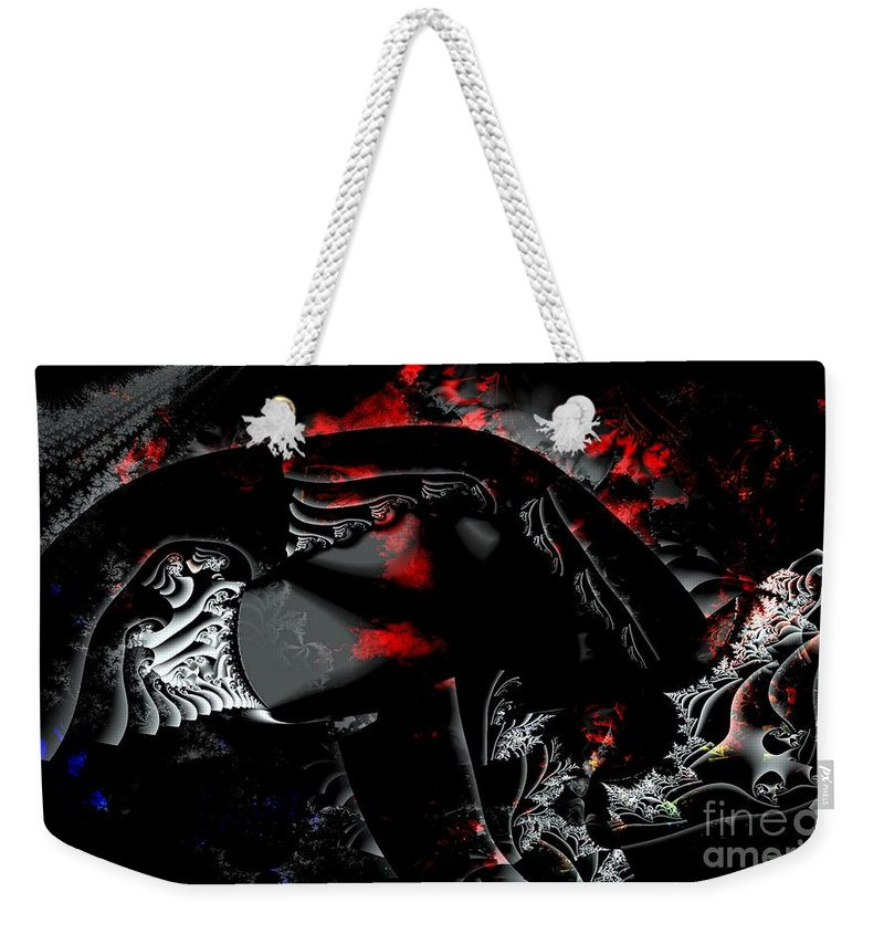 Nebula Weekender Tote Bag featuring the digital art Somewhere In The Black Nebula by Ron Bissett