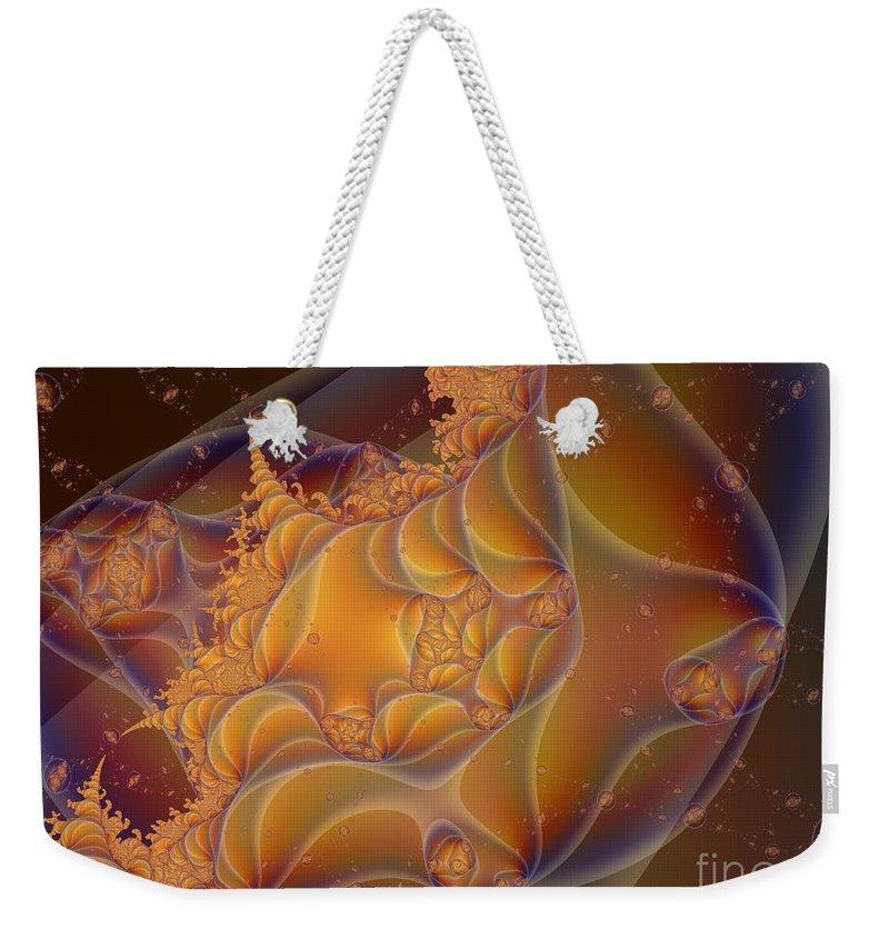 Fractal Art Weekender Tote Bag featuring the digital art Somewhere by Ron Bissett