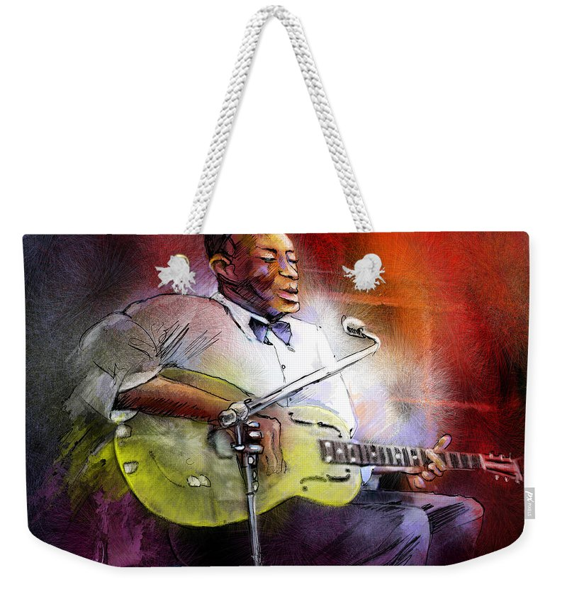 Music Weekender Tote Bag featuring the painting Son House by Miki De Goodaboom
