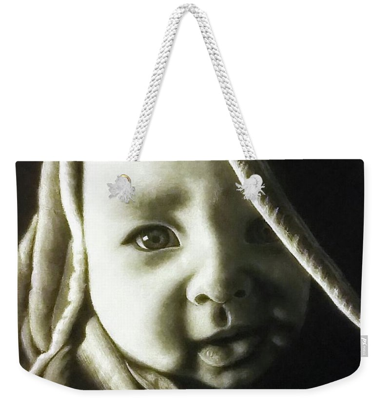 Baby Weekender Tote Bag featuring the drawing Son by Yana Gifford