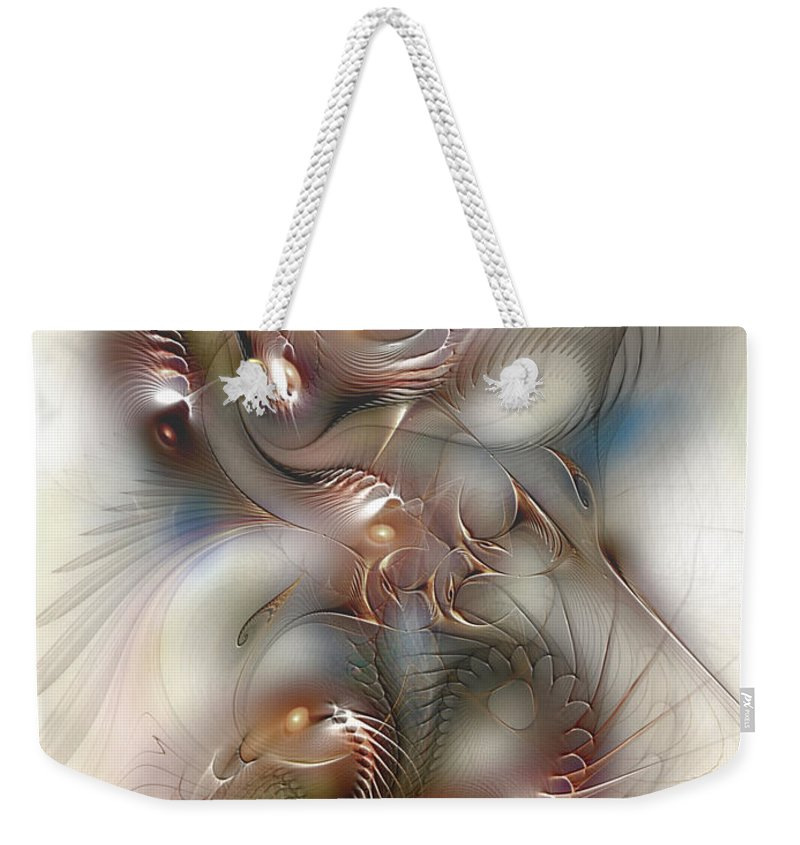 Abstract Weekender Tote Bag featuring the digital art Song For Santana by Casey Kotas