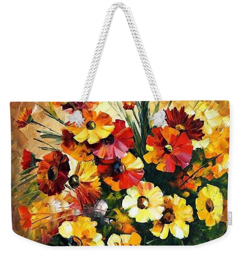Afremov Weekender Tote Bag featuring the painting Songs Of My Heart by Leonid Afremov