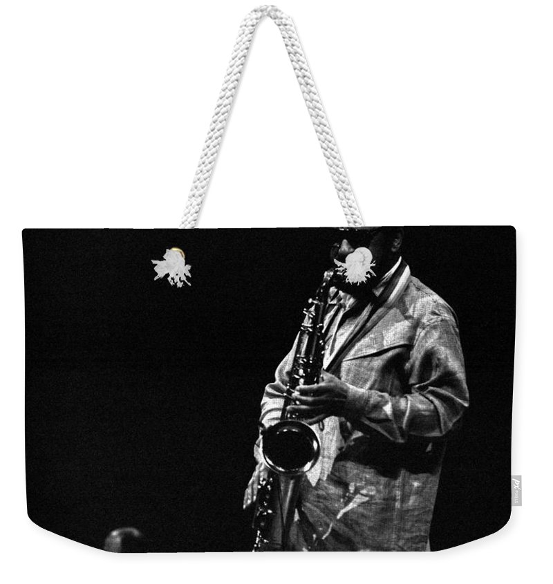 Jazz Weekender Tote Bag featuring the photograph Sonny Rollins by Lee Santa