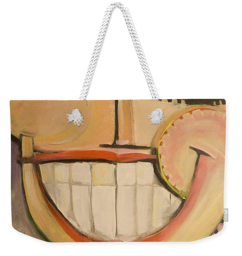 Sunny Weekender Tote Bag featuring the painting Sonny Sunny by Tim Nyberg