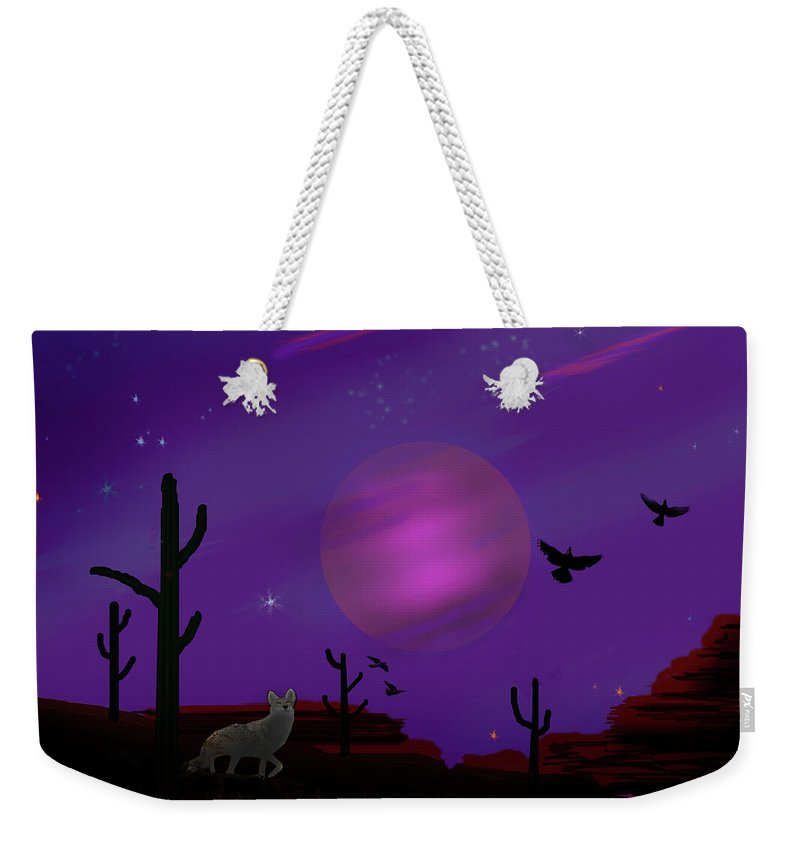 Sonoran Weekender Tote Bag featuring the photograph Sonoran Lucid Dream by J Griff Griffin