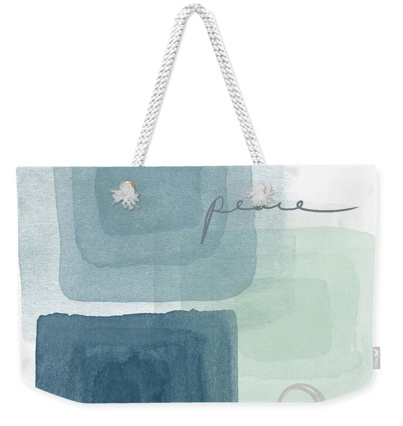 Peace Weekender Tote Bag featuring the mixed media Soothing Peace- Art By Linda Woods by Linda Woods