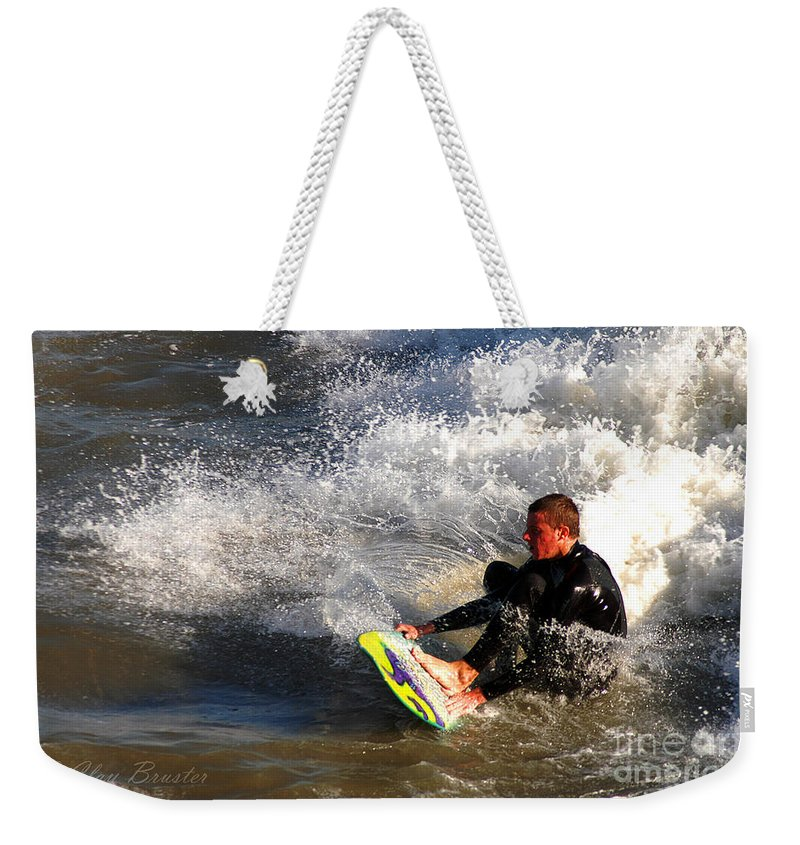 Clay Weekender Tote Bag featuring the photograph Sorfin' In Socal by Clayton Bruster
