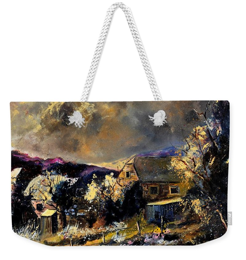 Landscape Weekender Tote Bag featuring the painting Sorinnes by Pol Ledent