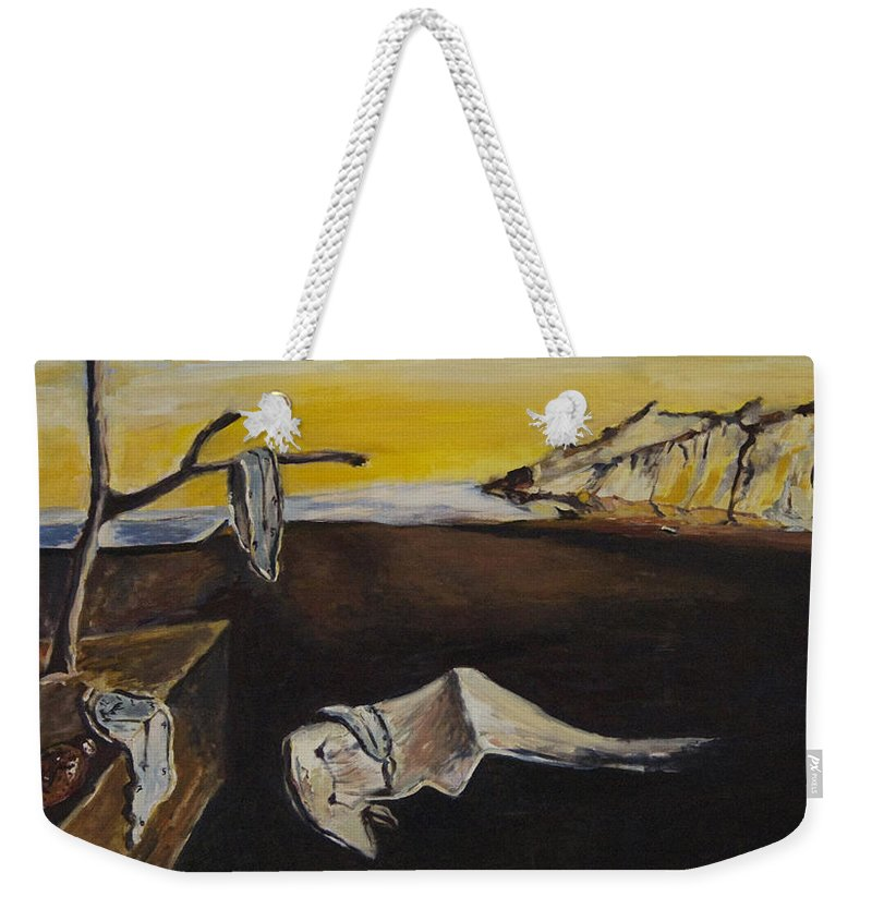 Landscape Weekender Tote Bag featuring the painting sorry Dali-itsGIFT by Pablo de Choros