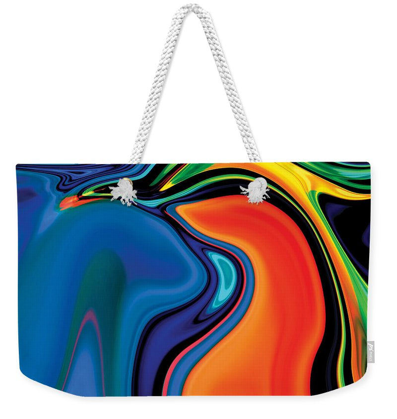 Abstract Weekender Tote Bag featuring the digital art Soul Bird 2 by Rabi Khan