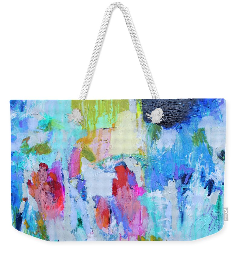 Abstract Weekender Tote Bag featuring the painting Soul Feeling by Claire Desjardins