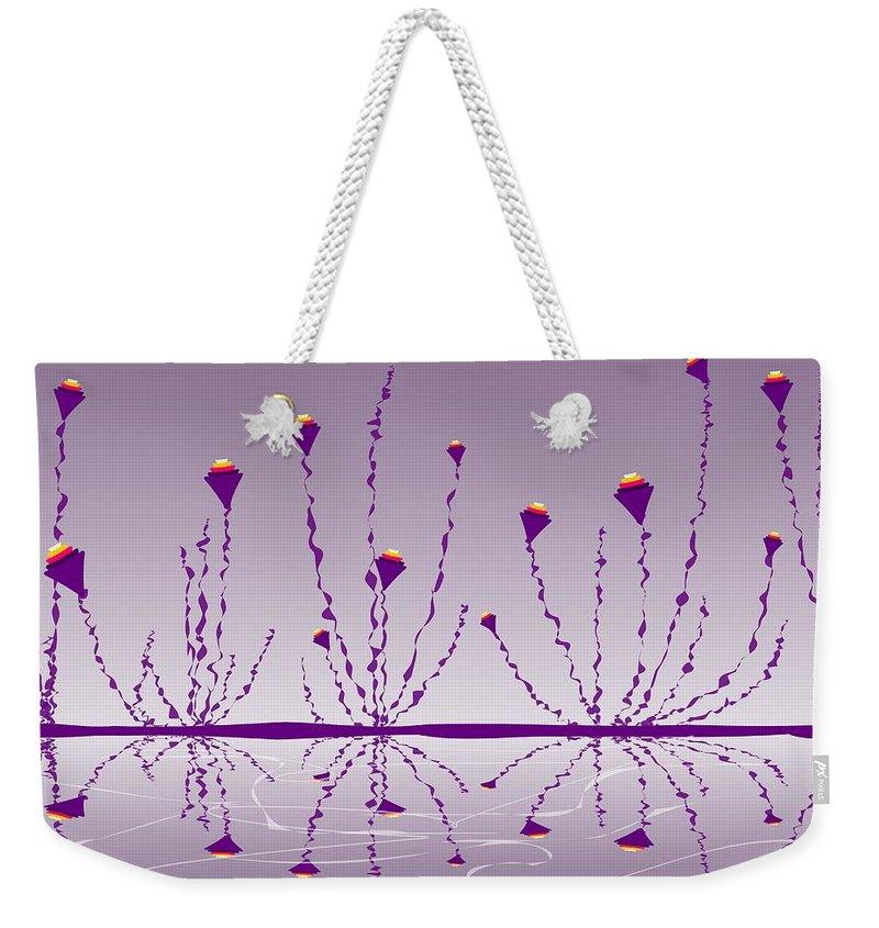 Abstract Weekender Tote Bag featuring the digital art Soul Flowers by Anastasiya Malakhova