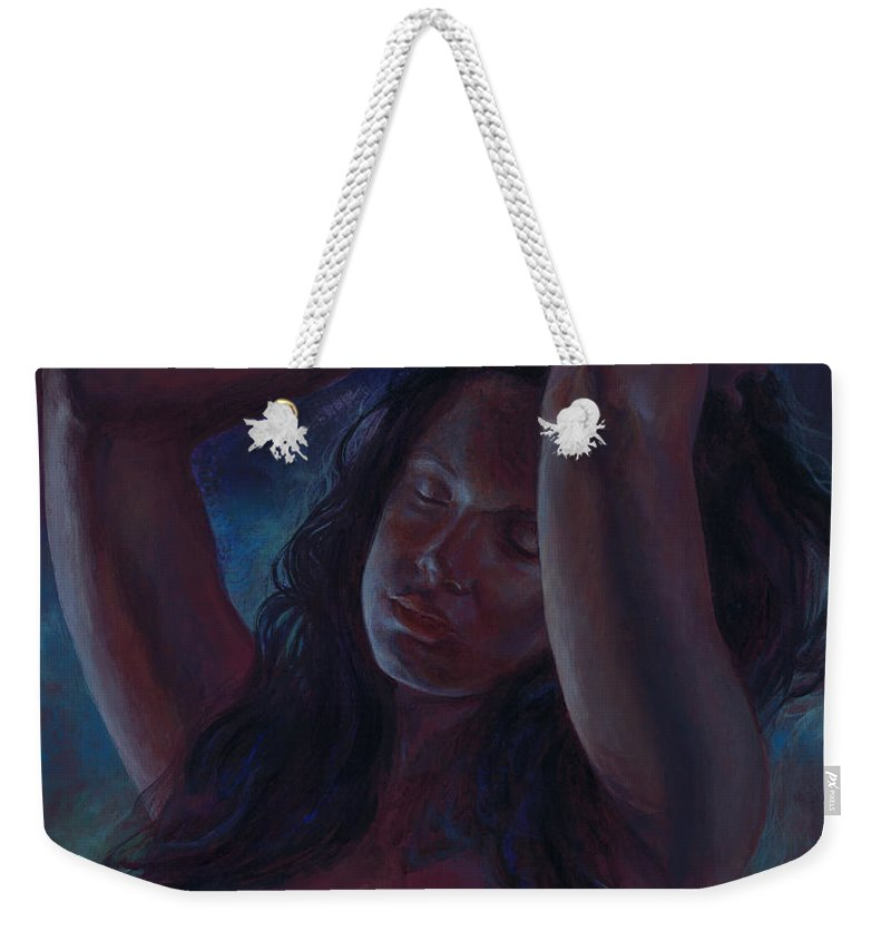 Goddess Weekender Tote Bag featuring the painting Soul Nocturne by Ragen Mendenhall