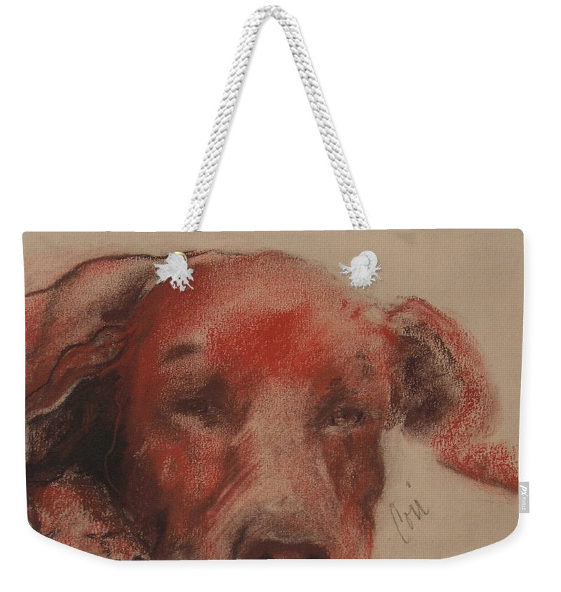 Pastel Weekender Tote Bag featuring the drawing Soul Searcher by Cori Solomon