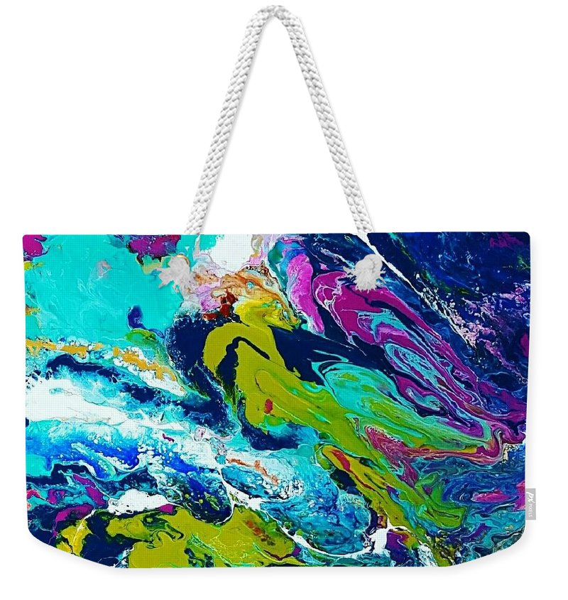 Weekender Tote Bag featuring the mixed media Soul Searching by Rosemary Hadeed