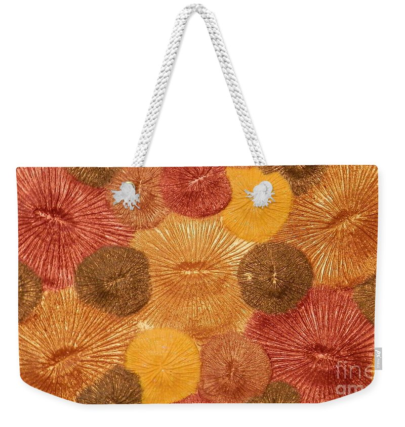 Abstract Weekender Tote Bag featuring the mixed media Soul Sparks by Teresa St George