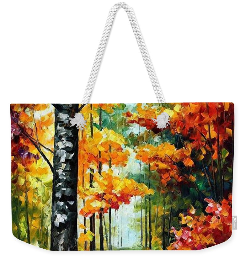 Afremov Weekender Tote Bag featuring the painting Soul Time by Leonid Afremov