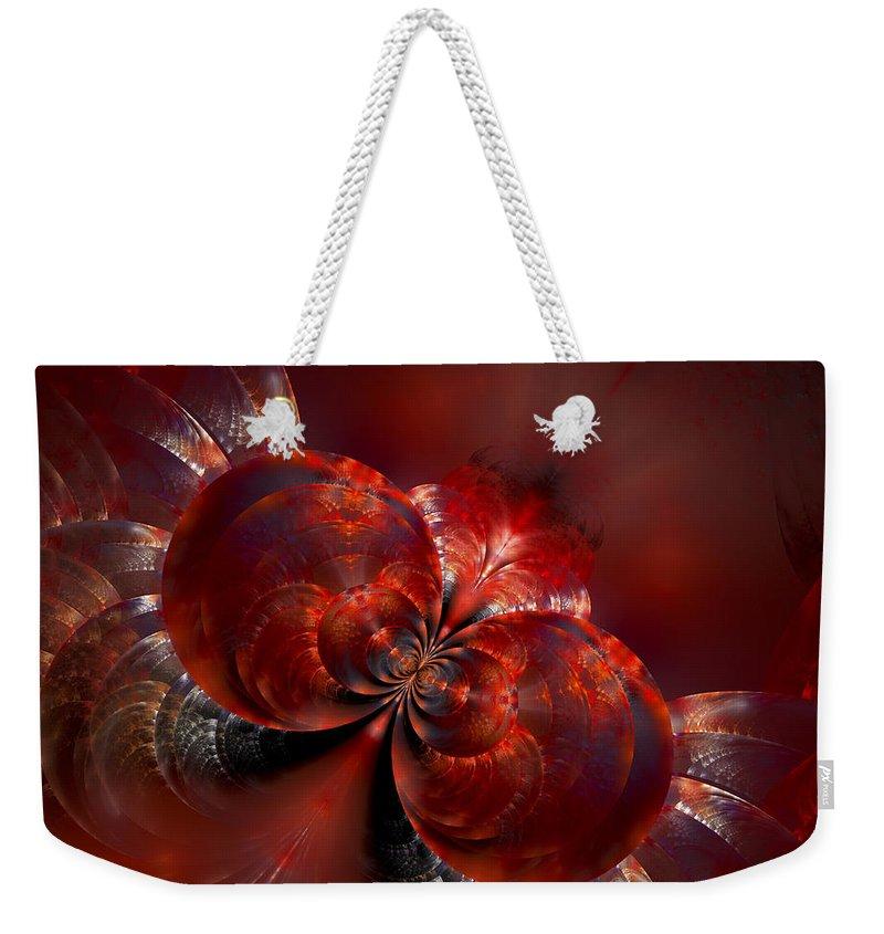 Fractal Weekender Tote Bag featuring the digital art Souls In Flight by Amorina Ashton
