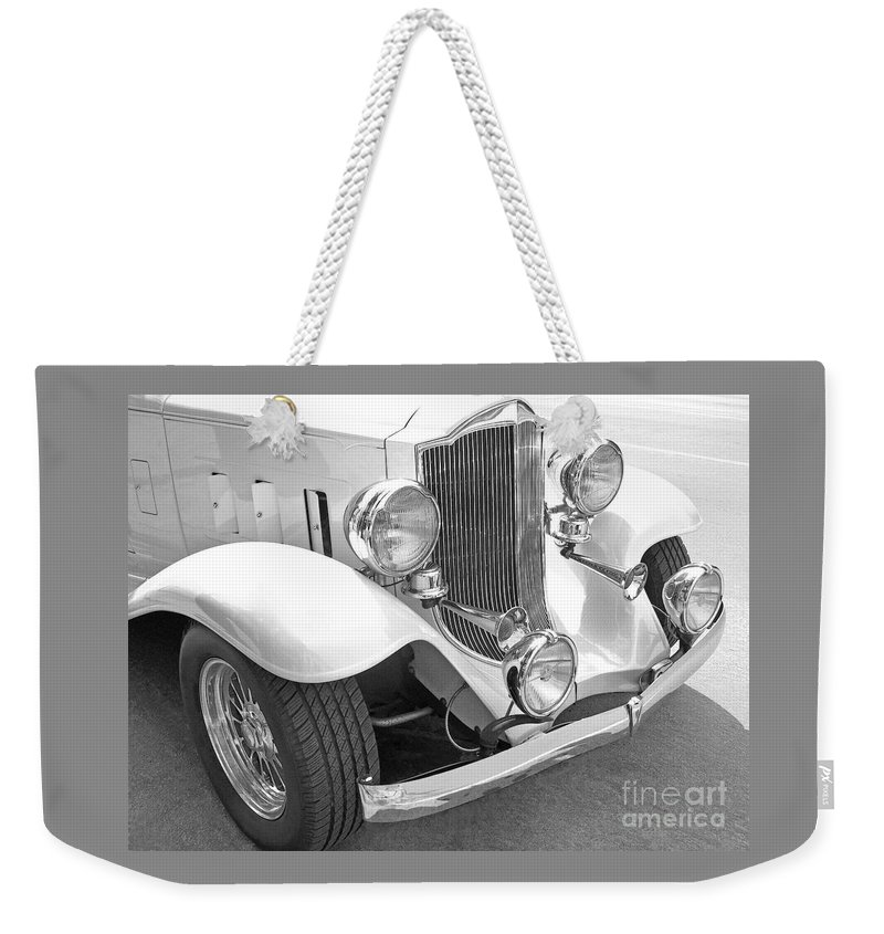 Car Weekender Tote Bag featuring the photograph Sound And Light by Ann Horn