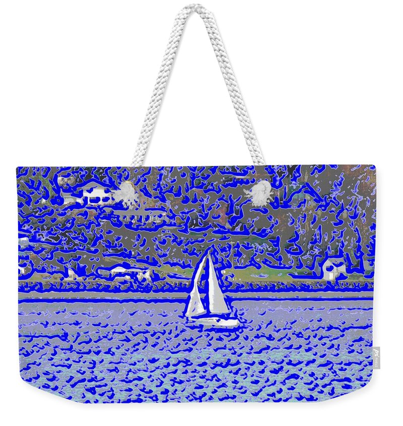 Sail Weekender Tote Bag featuring the digital art Sound Sailin 3 by Tim Allen