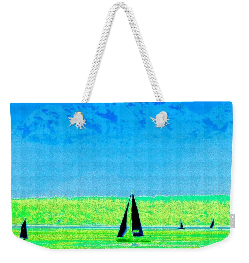 Sail Weekender Tote Bag featuring the photograph Sound Sailin by Tim Allen