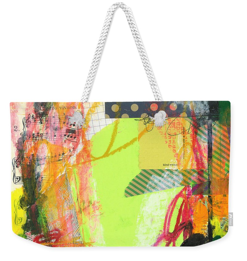 Paint Weekender Tote Bag featuring the painting Sound Waves by Katie Gebely