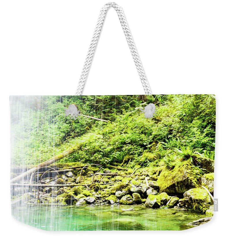 Tim Dussault Weekender Tote Bag featuring the photograph Sounds Behind The Falls by Tim Dussault