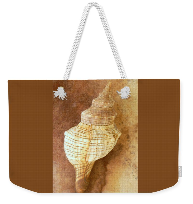 Still Life Weekender Tote Bag featuring the photograph Sounds Of The Sea by Holly Kempe